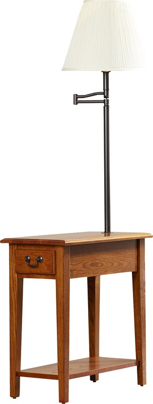 Charlton Home Apple Valley Chairside Lamp End Table Reviews