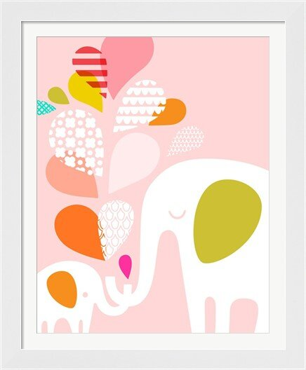 Elephant and Baby Framed Art