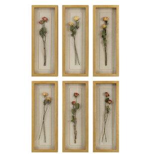 Rosalie Long Stem Wall Décor Set Of 6