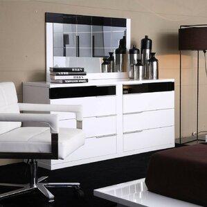 Sabra 8 Drawer Wood Dresser by Wade Logan