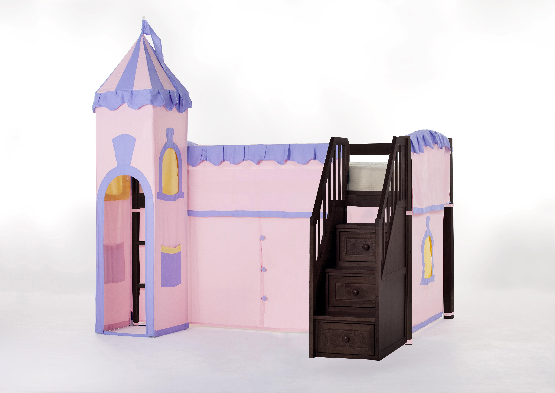 Harriet Bee Lyric Princess Loft With Stairs | Wayfair