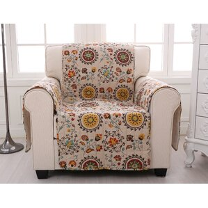 Andorra Quilted Box Cushion Armchair Slipcover by Greenland Home Fashions