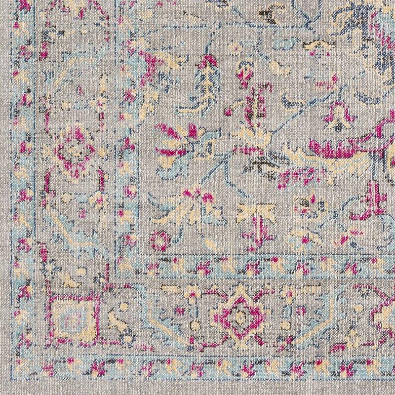 Bungalow Rose Randhir Floral Gray Pink Area Rug Amp Reviews