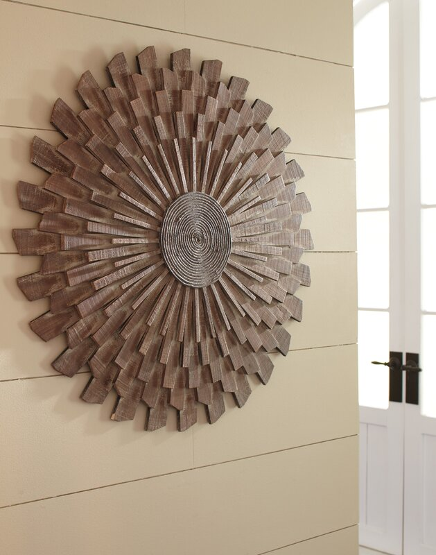 sunburst wood wall d cor reviews birch lane. Black Bedroom Furniture Sets. Home Design Ideas