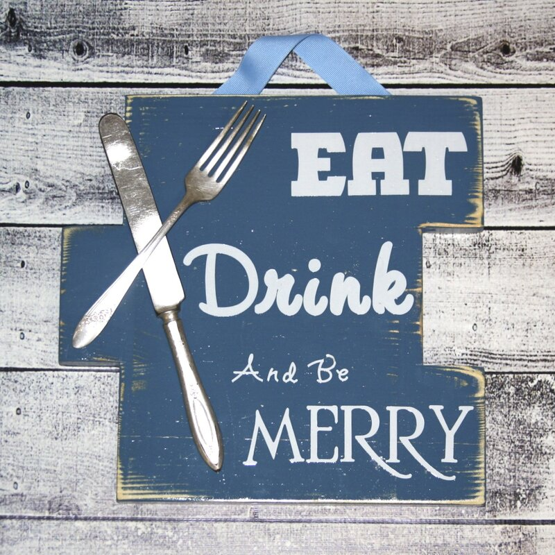 Eat Drink And Be Merry Sign Wall Décor