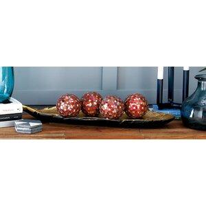 PVC Glass Mosaic Orb Decorative Ball (Set of 4)