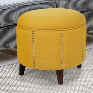 Button Tufted Lift Round Storage Ottoman by ..