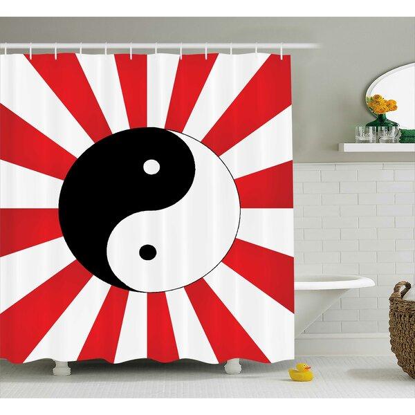 East Urban Home Red Ying Yang Pop Art Asian Shower Curtain U0026 Reviews |  Wayfair