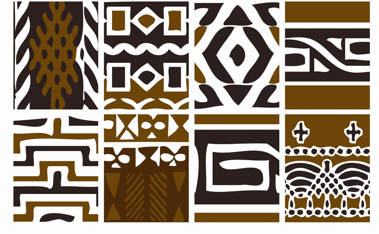 Euro Tribal 16 Piece Wall Decal Set
