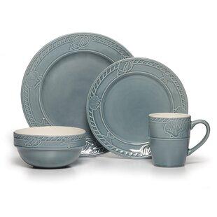 Antigua 16 Piece Dinnerware Set Service for 4  sc 1 st  Wayfair & Nautical Dinnerware | Wayfair