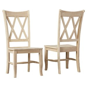 Toby Cross Back Solid Wood Dining Chair (Set of 2) by August Grove