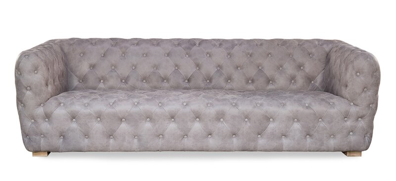 Medium Stanley Chesterfield Leather Sofa