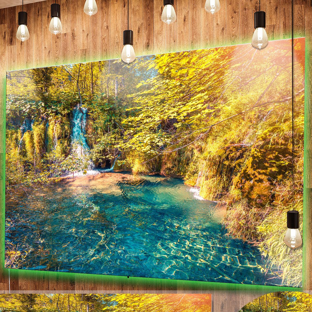 DesignArt \'Plitvice Lakes National Park\' Photographic Print on Metal ...