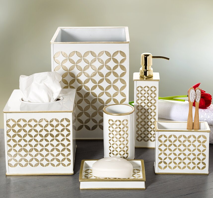 Diamond Lattice 6 Piece Bathroom Accessory Set