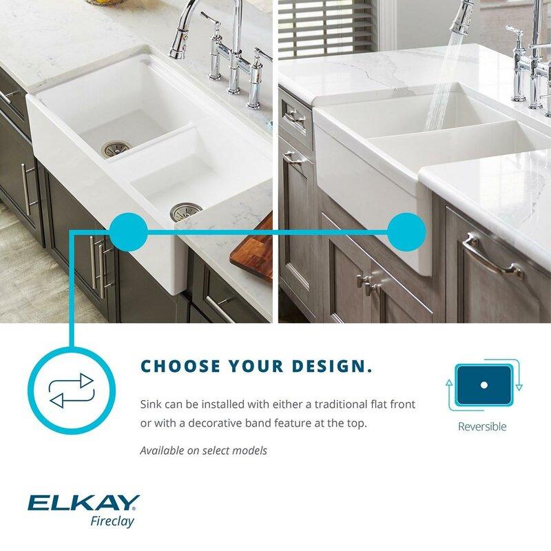 33   x 20   double basin farmhouse kitchen sink elkay 33   x 20   double basin farmhouse kitchen sink  u0026 reviews      rh   wayfair com