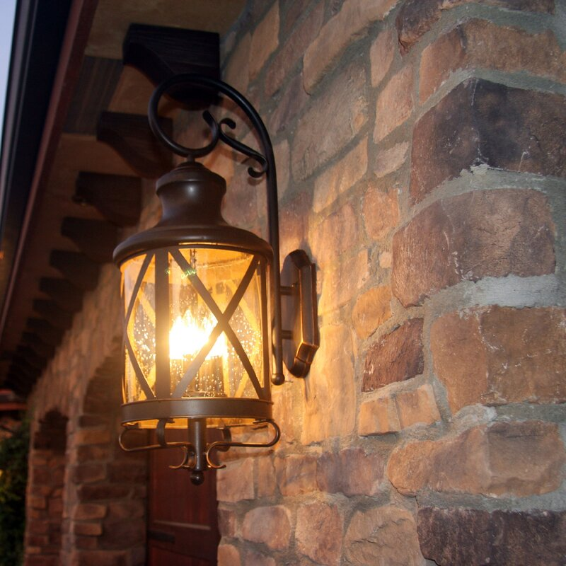 Three Posts Fairbury Outdoor Wall Lantern & Reviews | Wayfair
