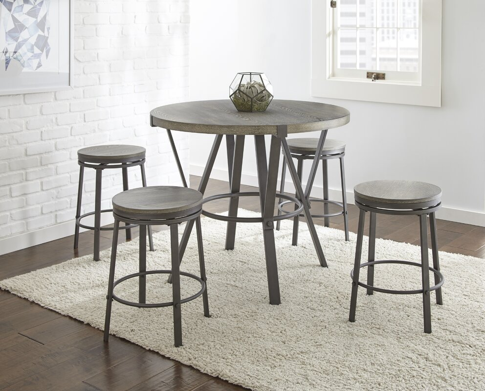 leka 5 piece pub table set