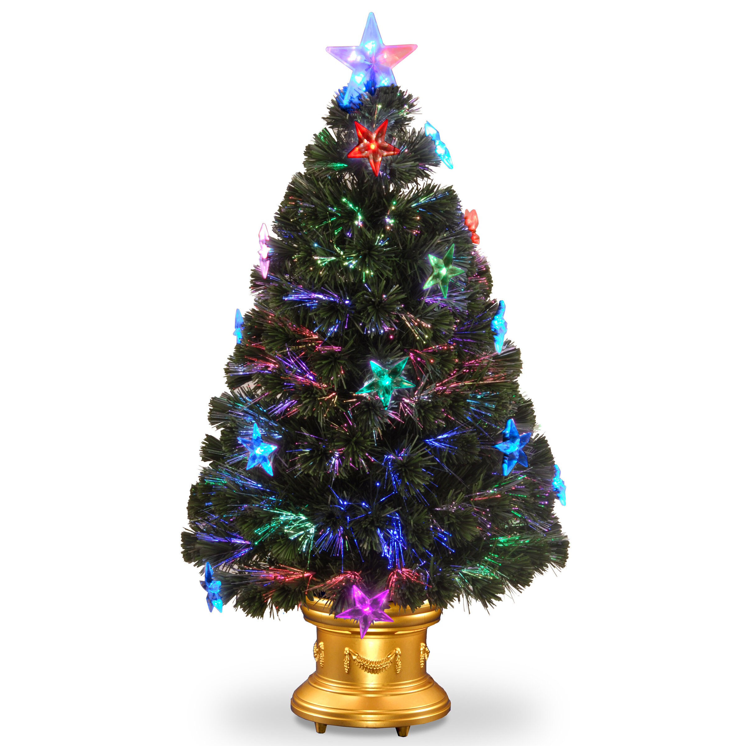 The Holiday Aisle Firework Optics 3 Green Artificial Christmas Tree