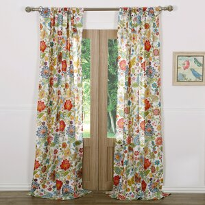 living room curtains with valance. Heartwood Nature Floral Sheer Rod Pocket Curtain Panels  Set of 2 Drapes Valance Sets You ll Love Wayfair
