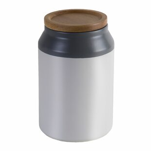 Merveilleux Food Ceramic Storage Jar With Wooden Lid