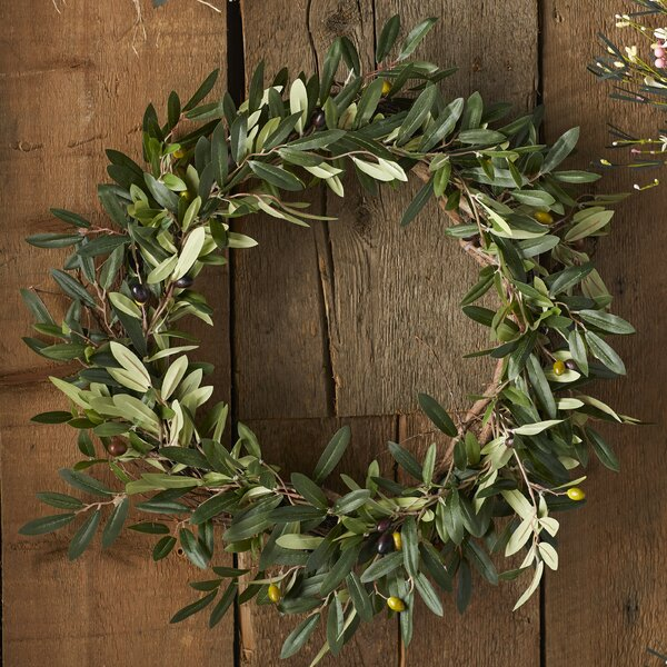 Charlton Home 20 Quot Faux Olive Branch Wreath Amp Reviews Wayfair