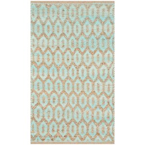 Astor Place  Hand-Woven Natural/Turquoise Area Rug
