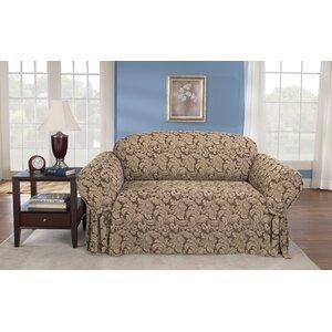 Scroll Classic Box Cushion Loveseat Slipcover