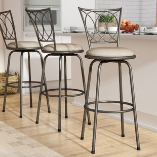Frankfort Adjule Height Swivel Bar Stool Set Of 3