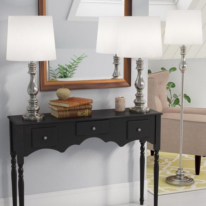 Girardeau 3 Piece Table And Floor Lamp Set Reviews Joss Main