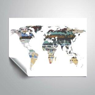 Map wallpaper wayfair greear painted world map i wall mural gumiabroncs Choice Image