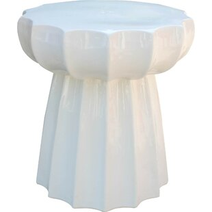 bellmead round scalloped ceramic garden stool - Ceramic Garden Stool
