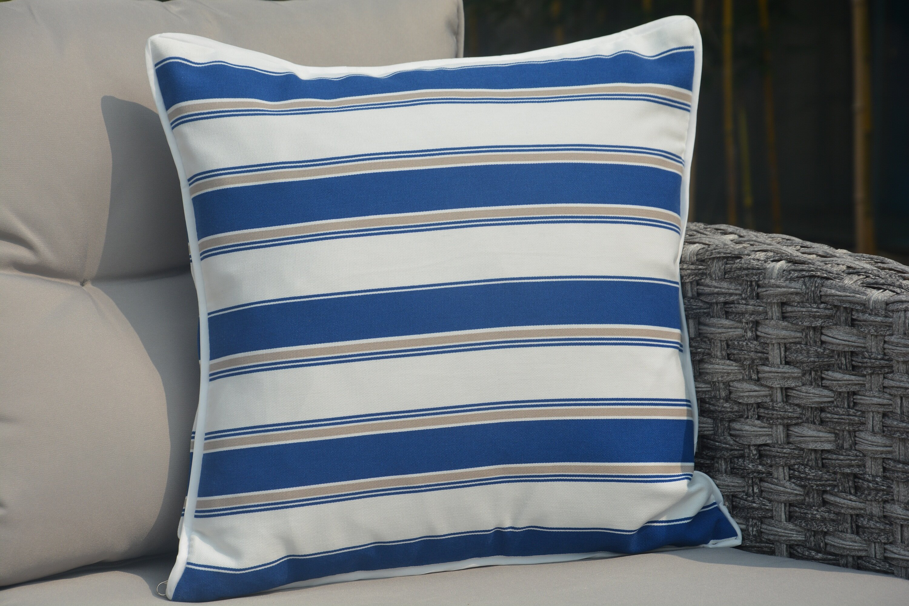 Red Barrel Studio Beckett Striped Outdoor Throw Pillow Wayfair