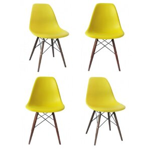 Harrison Matte Solid Wood Dining Chair (Set Of 4)
