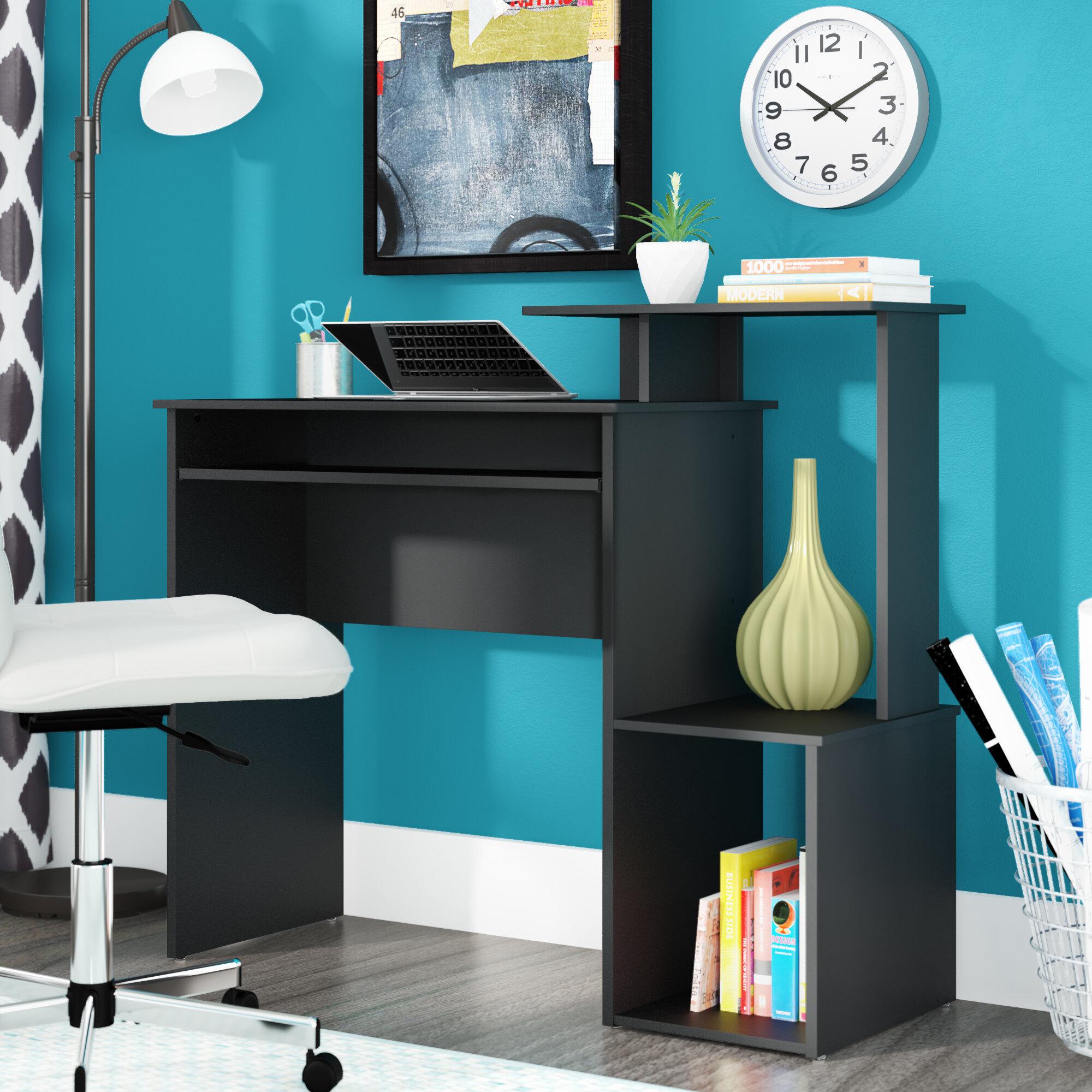 Solid Oak Computer Desk Wayfair