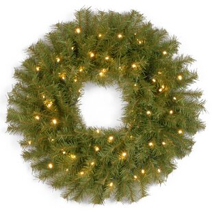 norwood lighted pine wreath
