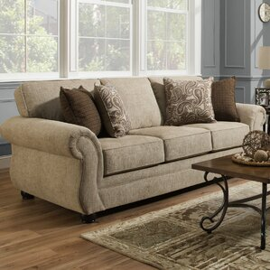 Simmons Vicki Parchment Queen Sleeper Sofa by Darby Home Co