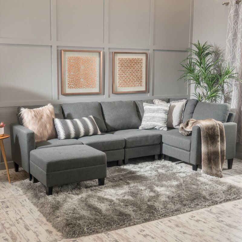 Modular Sectional Sofa Small Spaces: Breakwater Bay Longwood Modular Sectional & Reviews
