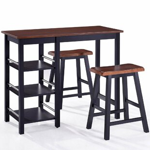 Scribner 3 Piece Solid Wood Dining Set