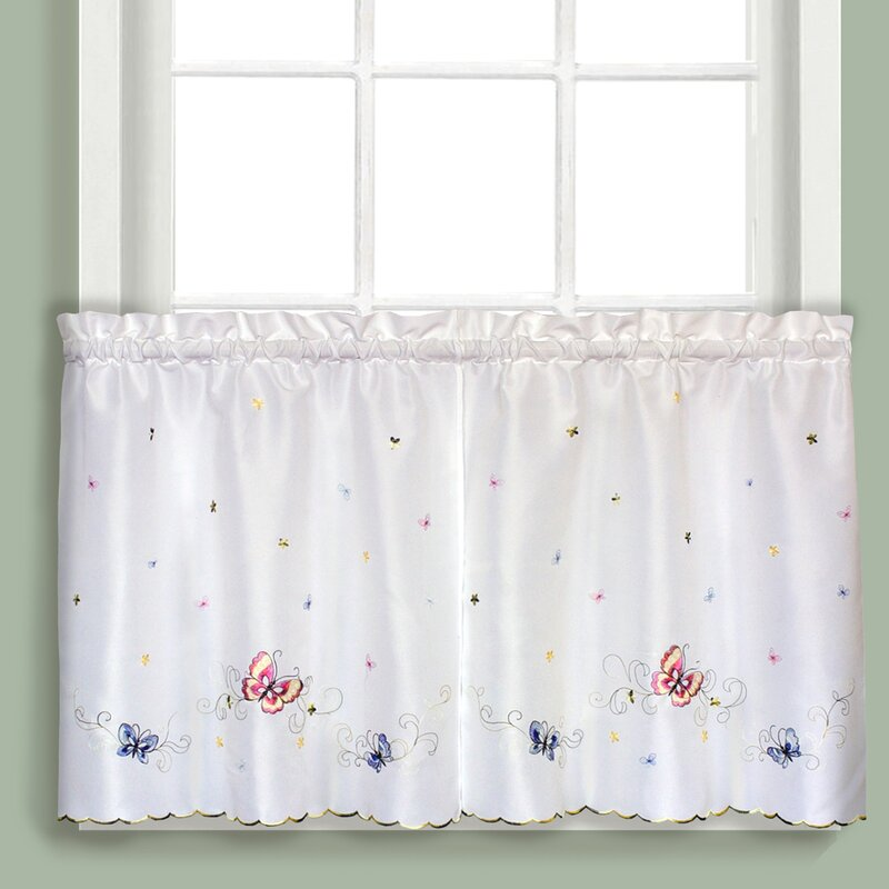 Butterfly Kitchen Curtains: United Curtain Co. Butterfly Tier Curtain & Reviews