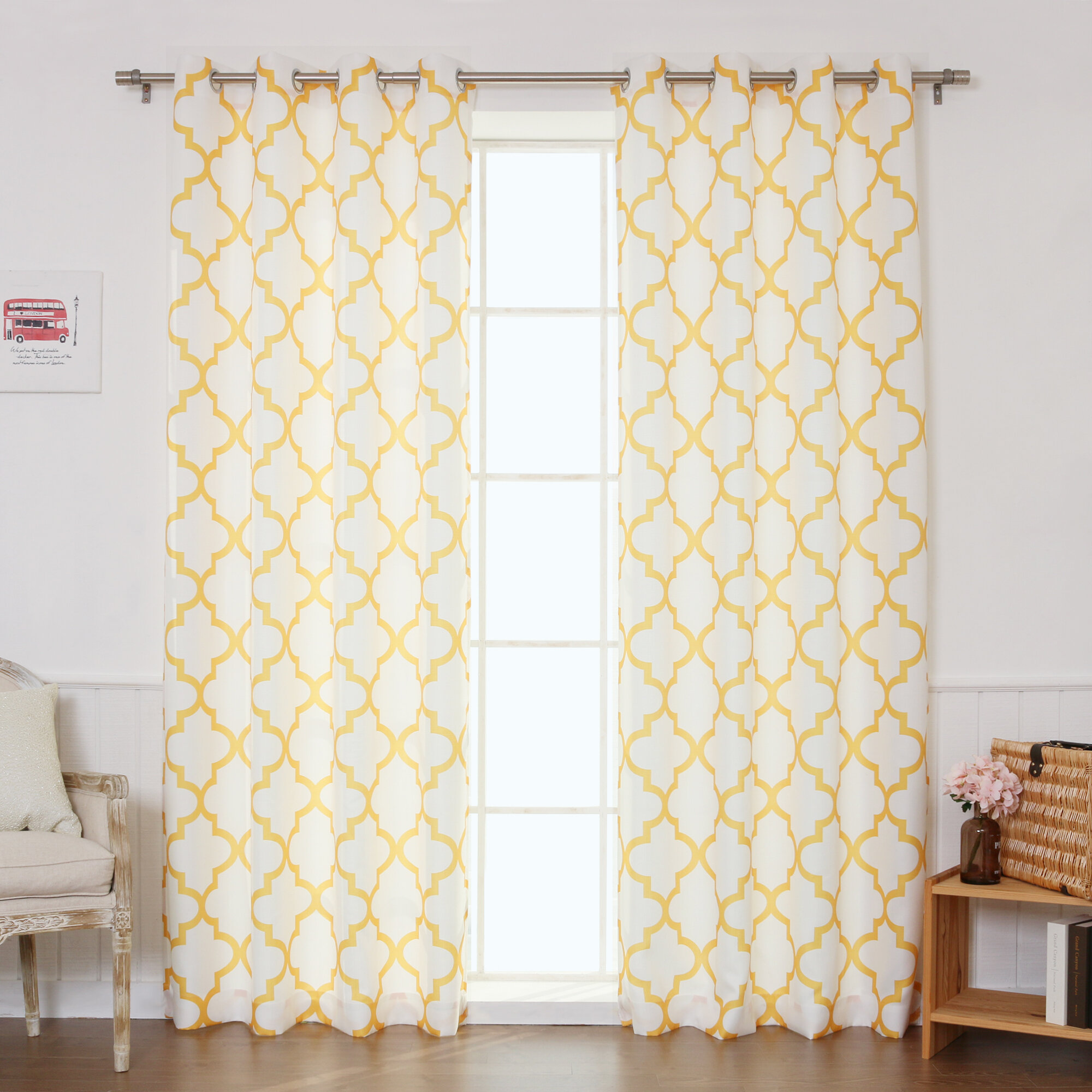 curtain shipping garden grommet soho panel overstock length sheer curtains lightweight on home over free product orders voile long