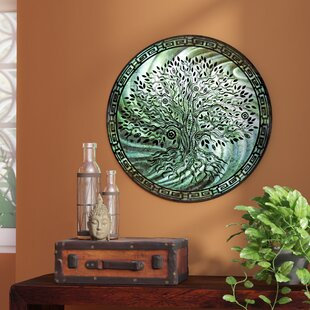 8a5aa66bef34 'Tree of Life Teal' Graphic Art on Metal
