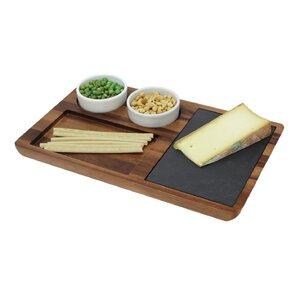 Chamomile  Wood Slate Cheese Tray