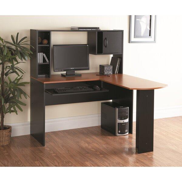 zipcode design marvin lshape computer desk with hutch u0026 reviews wayfairca
