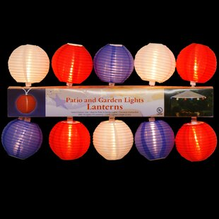 10 Light Patriotic Patio/Garden Lantern Set