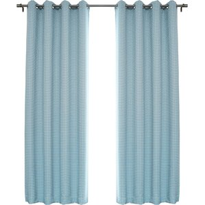 Traditional Houndstooth Check Plaid And Check Blackout Thermal Grommet  Curtain Panels (Set Of 2)