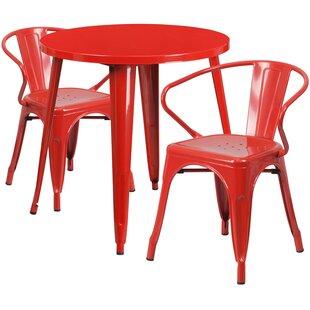 Charmant Outdoor Red Bistro Set | Wayfair