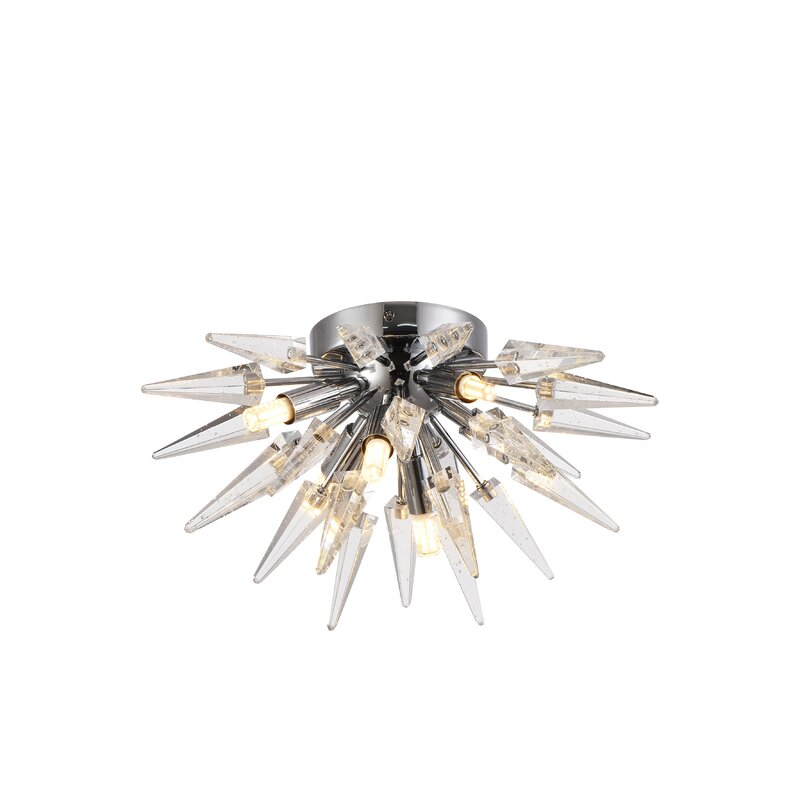 Orren Ellis Boucher 5-Light Flush Mount