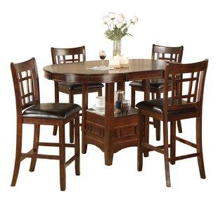 Degraffenreid 5 Piece Counter Height Dining Set