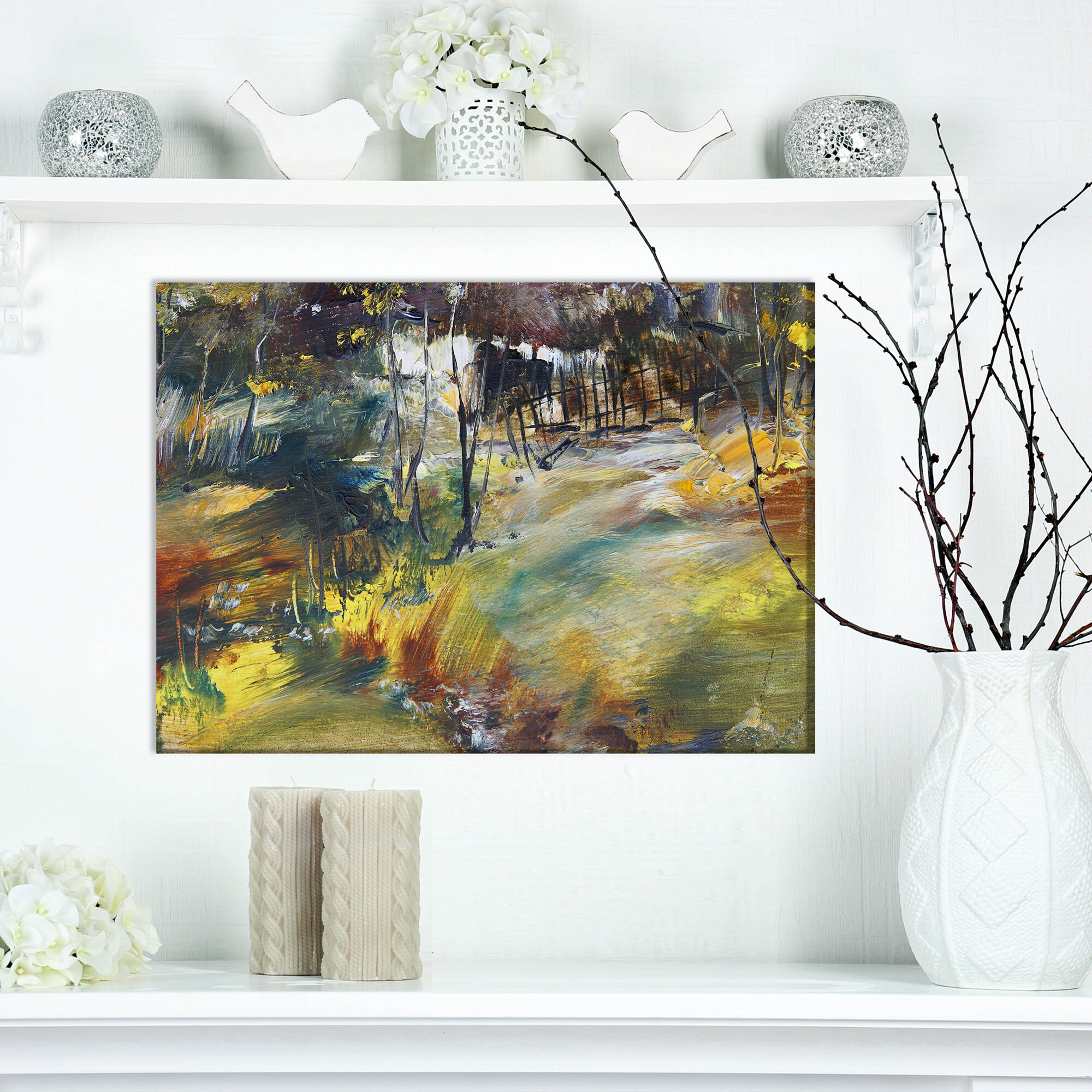 East urban home contemporary village after storm oil painting print on wrapped canvas wayfair