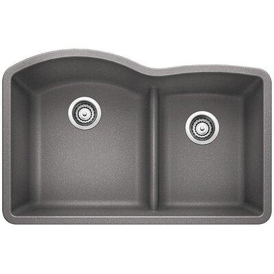 "White Undermount Kitchen Sink blanco diamond 32"" x 20.88"" low divide undermount kitchen sink"